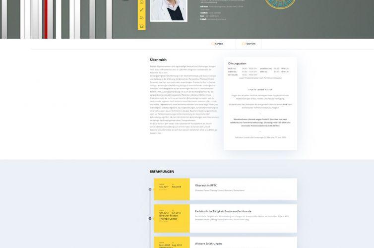 Webdesign – Webpage für Arztpraxis – Arzt Hausarzt Dr. Tinchev